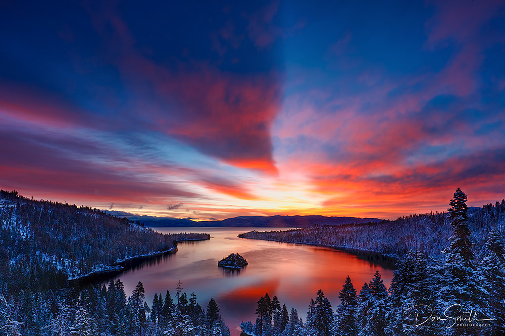 Sunrise Spring Morning, Emerald Bay, Lake Tahoe, C