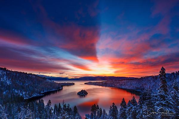 Sunrise Spring Morning, Emerald Bay, Lake Tahoe, C