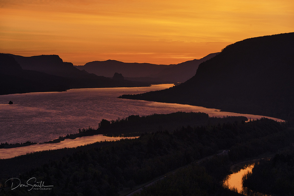 Dawn at Columbia River Gorge, Oregon