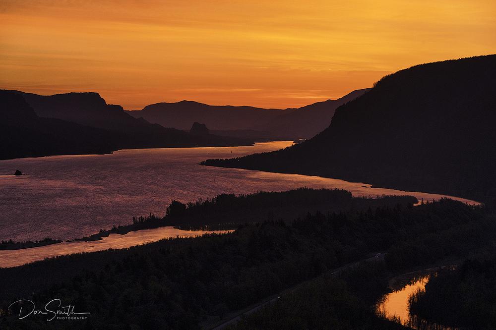 Dawn at Columbia River Gorge, Oregon
