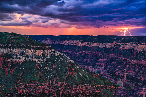 Grand Canyon Monsoon Lightning