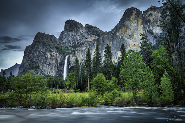 Merced River and Bridalveil Fall, Yosemite Valley