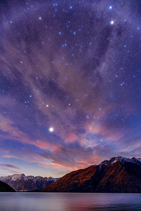 New Zealand Night Sky, Lake Pukaki