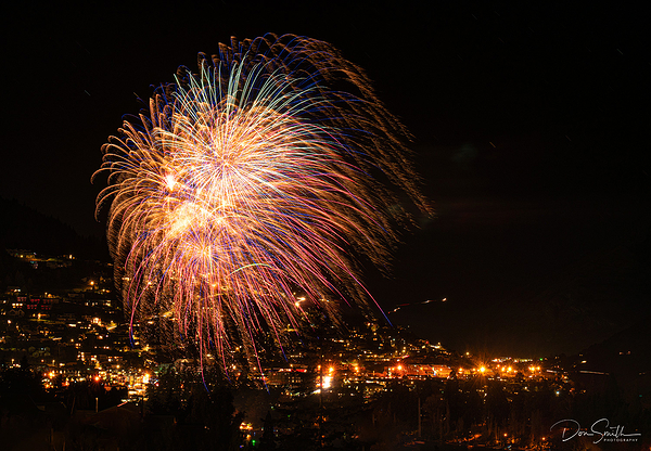 Winterfest Fireworks Over Queenstown, New Zealand