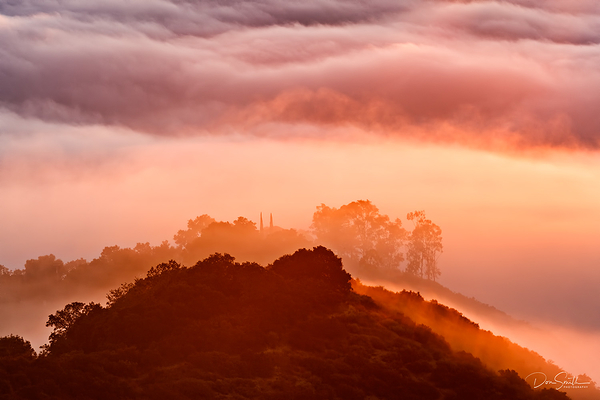 Sunrise and Fog, Cnetral Coast, California
