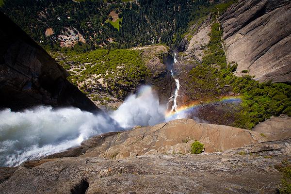 Looking Over Upper Yosemite Falls