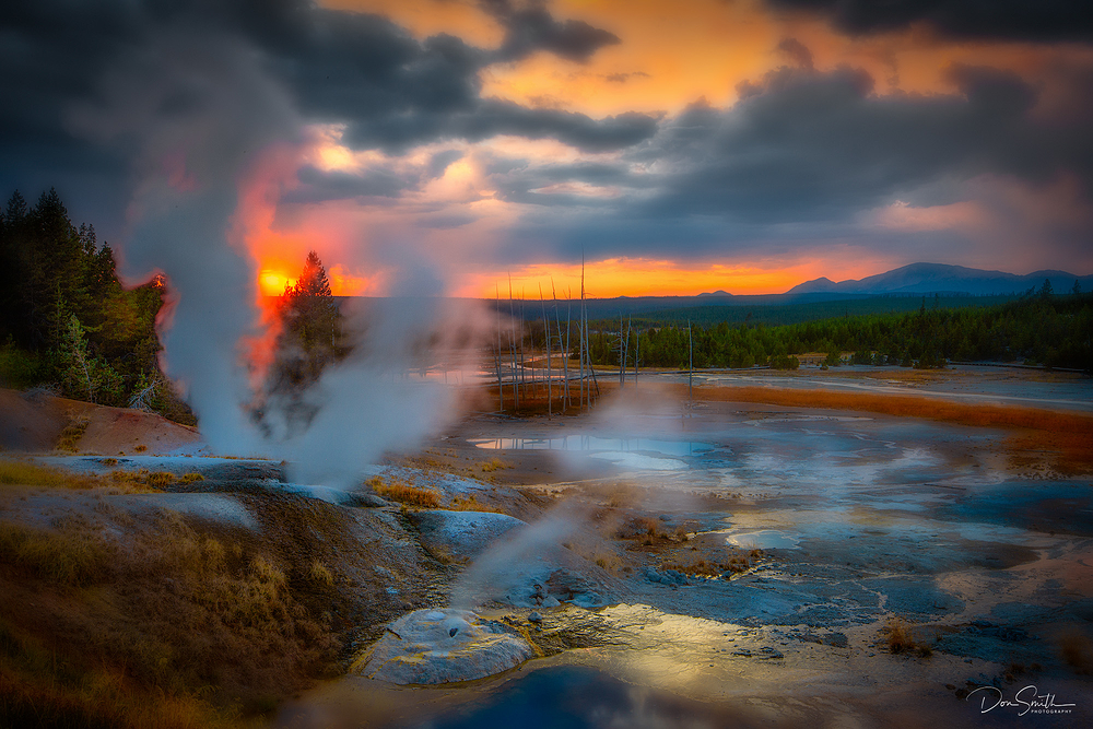 Yellowstone Sunset, Norris Geyser Basin