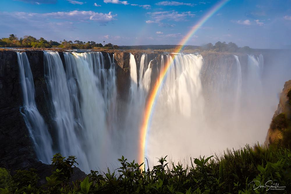 Rainbow Over Victoria Falls, Zimbabwe