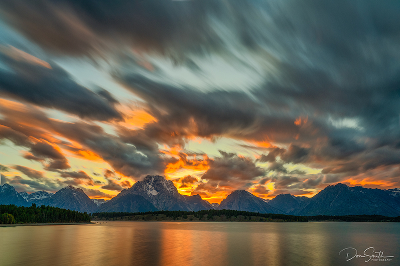 Sunset at Jackson Lake, Wyoming