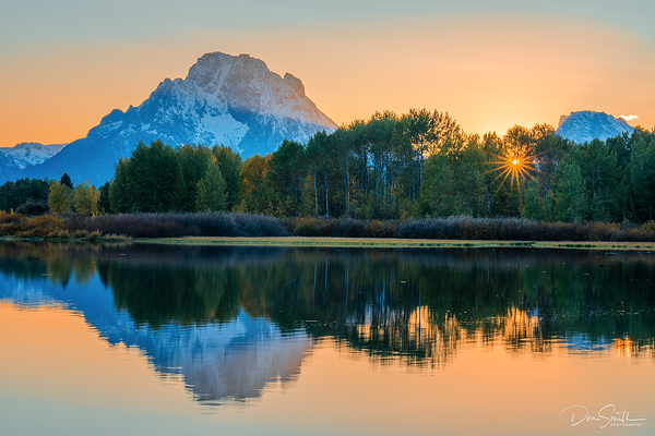 Sunset at Oxbow Bend, Grand Teton
