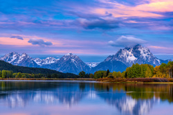 Dawn at Oxbow Bend,  Grand Tetons, Wyoming