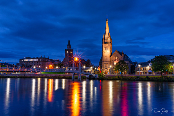 Cathedral Reflection in The River Ness, Scotland