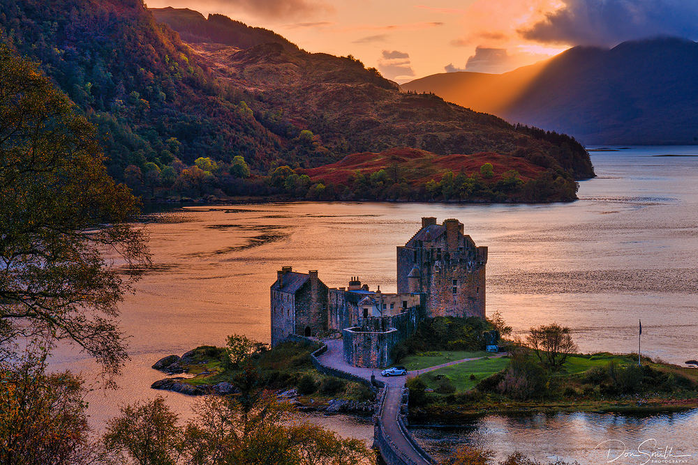 Sunset Over Eileen Donan Castle, Isle of Skye