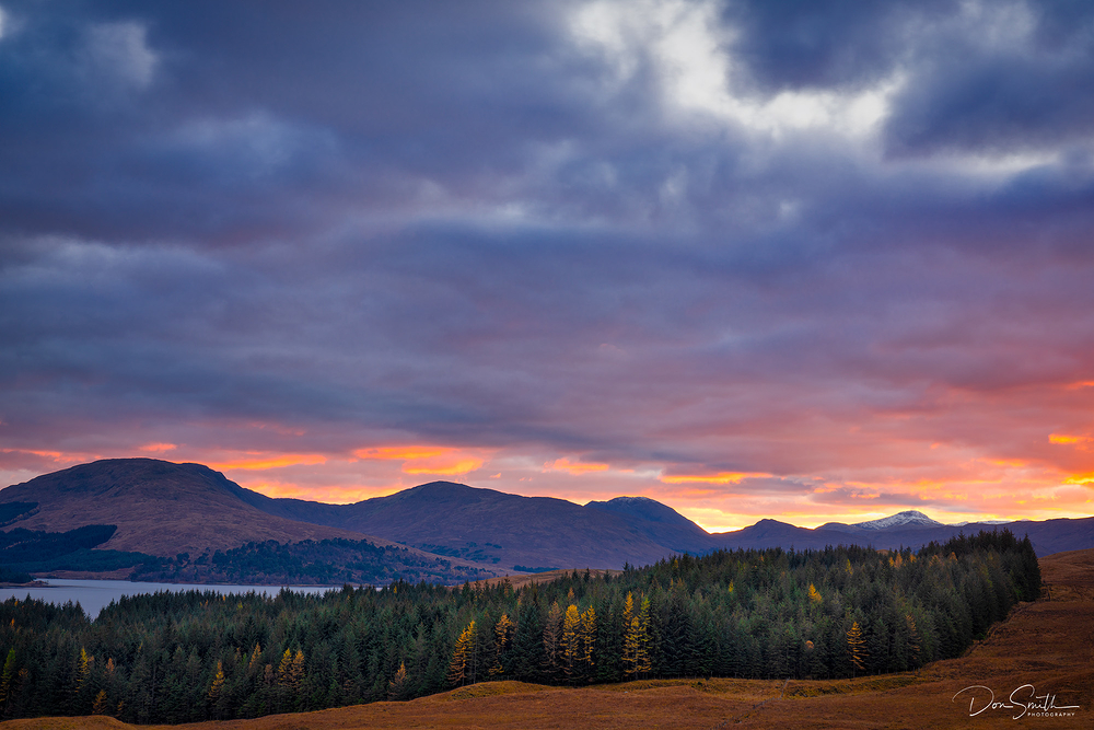 Scottish Highlands Sunset