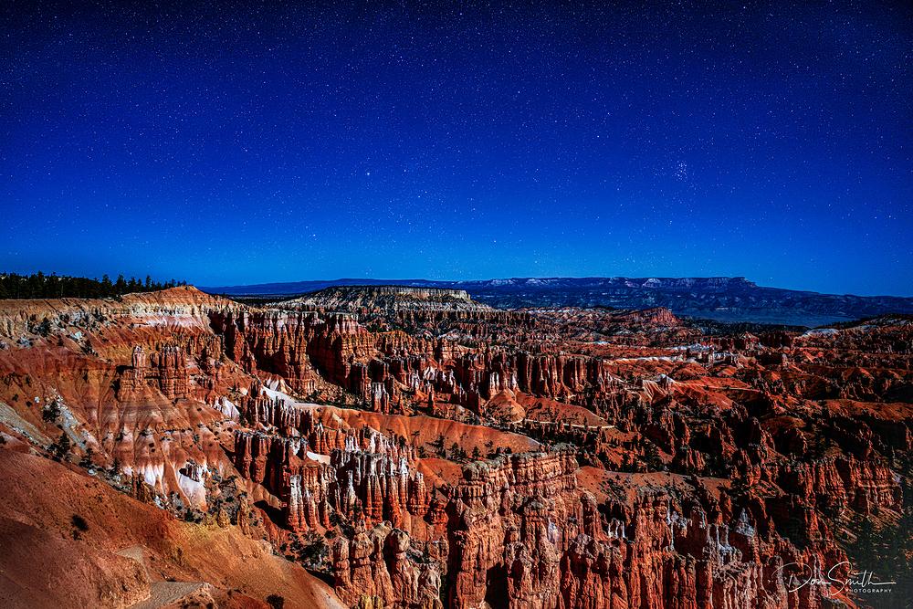 Starry Sky Over Bryce Canyon Amphetheater, Utah