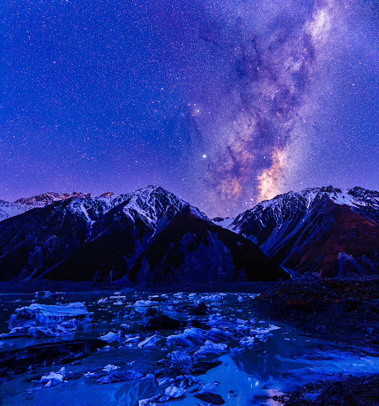 Milky Way Over Lake Tasman, Aoraki/Mt. Cook NP