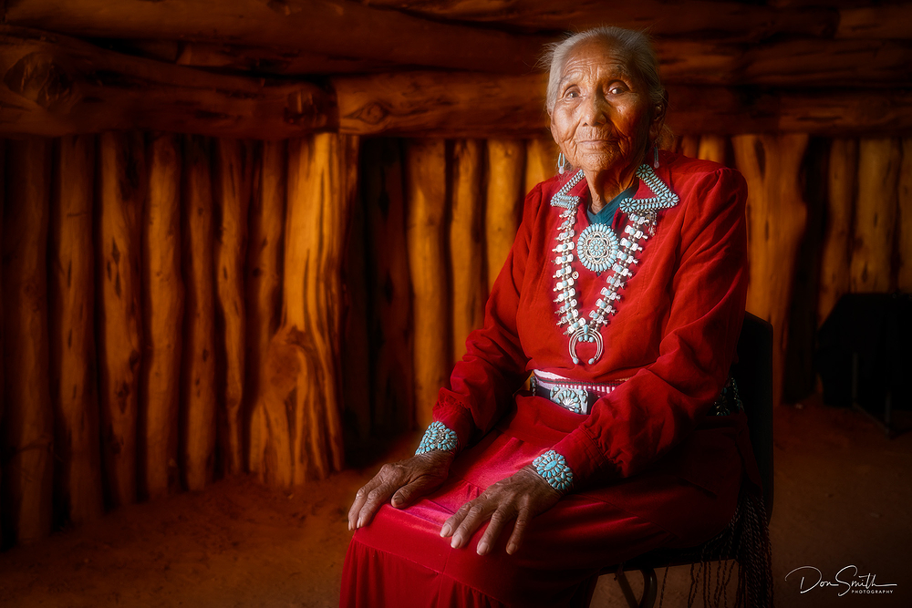 Helen, Monument Valley, Navajo Hogan