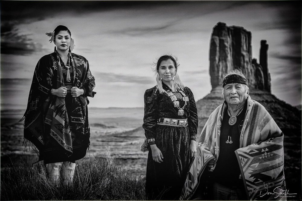 Navajo Family, Monument Valley, Arizona