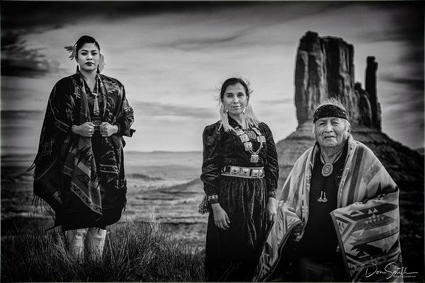 Navajo Family, Monument Valley, Arizona