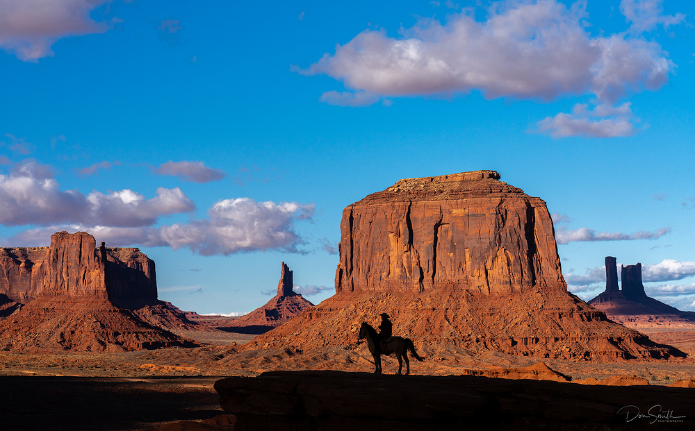 Cowboy at John Ford Point, Monument Valley