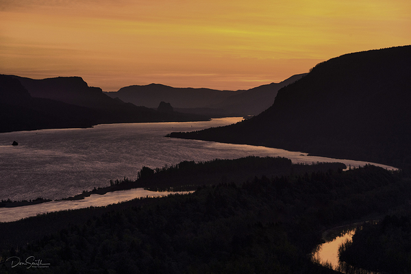 Dawn Light Over Columbia River Gorge, Oregon