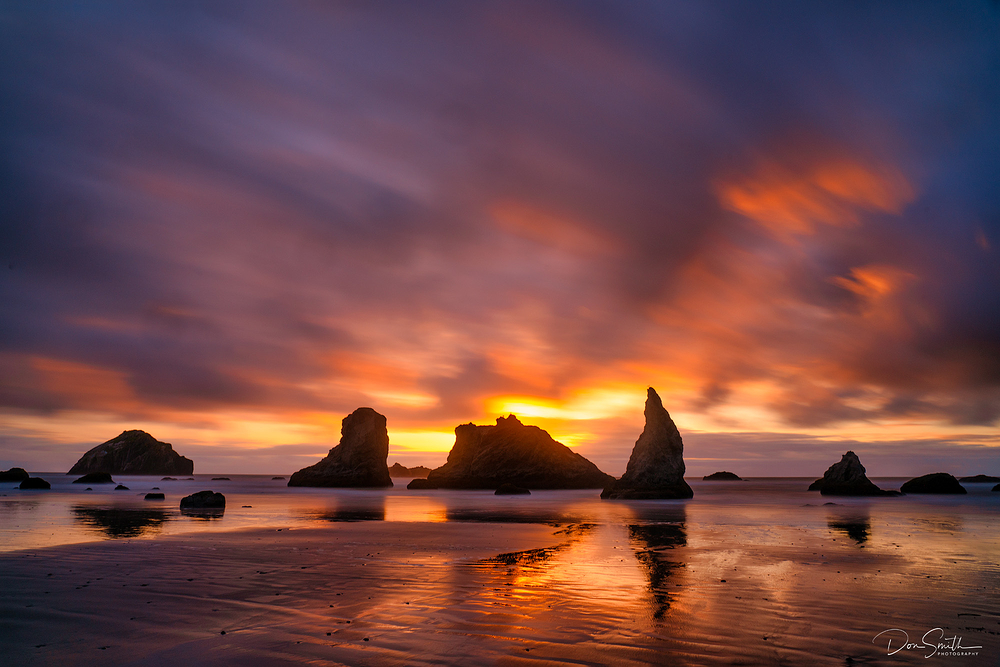 Moving Clouds and Light, Bandon Beach, Oregon