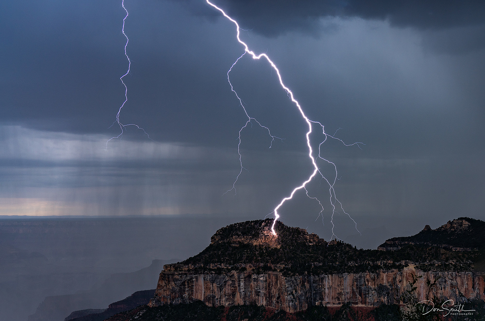 Lightning Strike, Grand Canyon, North Rim