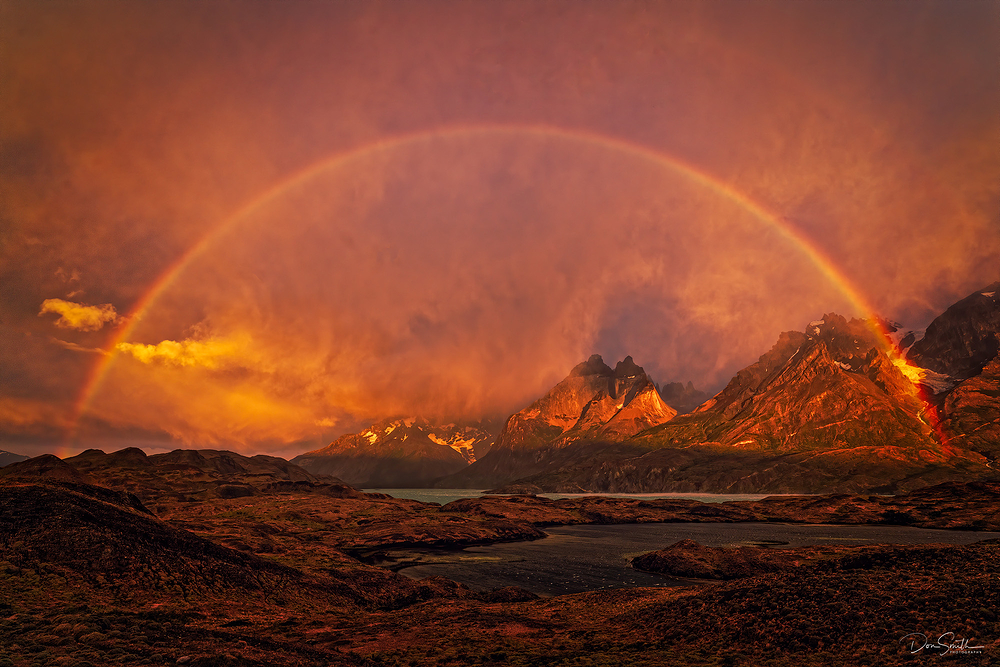 Rainbow at Torres del Paine NP, Chile