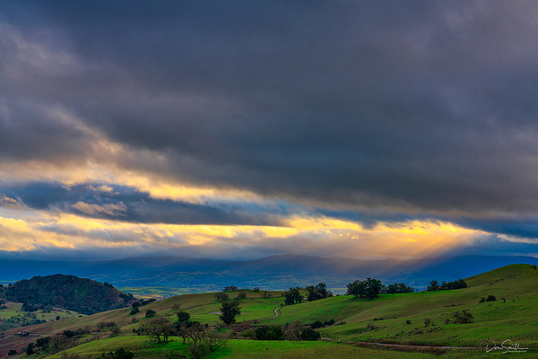 Heavens' Light Over Santa Clara Valley, CA