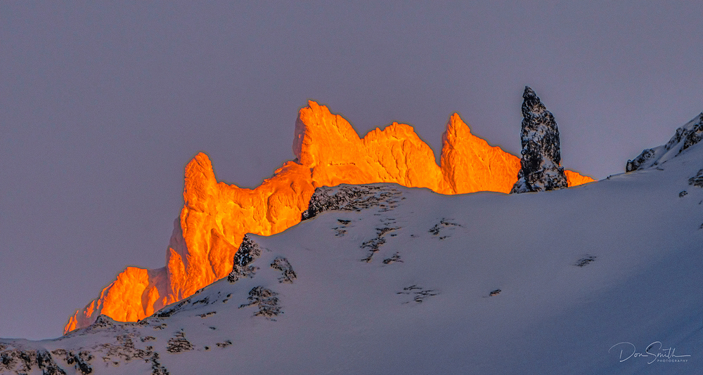 Alpenglow, Southern Iceland
