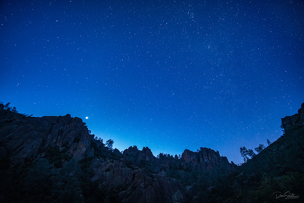 Star Field Over Pinnacles NP's High Peaks