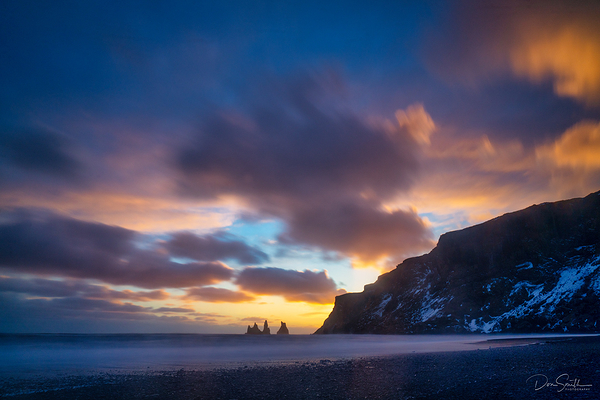 Waning Light, Black Sand Beach, Vik, Iceland