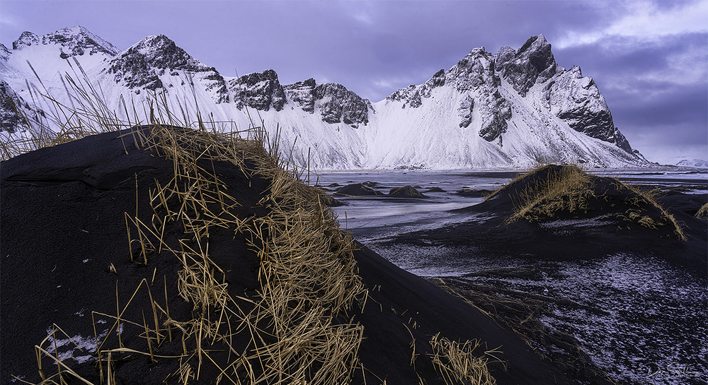 Black Sand Dunes, Vestrahgorn, Iceland