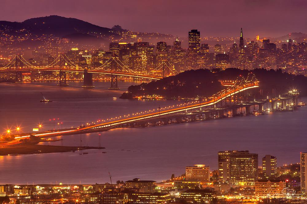 San Francisco Through the Mist