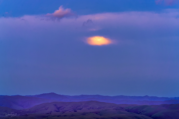 Supermoon Rising Over Santa Clara Valley, Calif