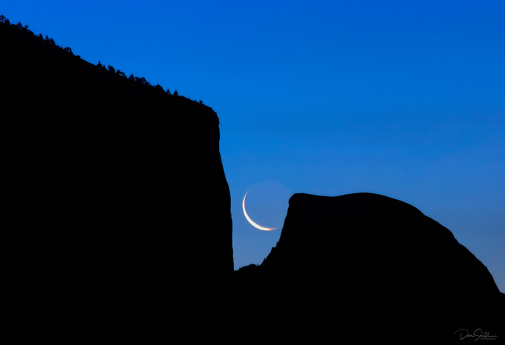 Crescent Moon, El Cap and Half Dome, Yosemite NP