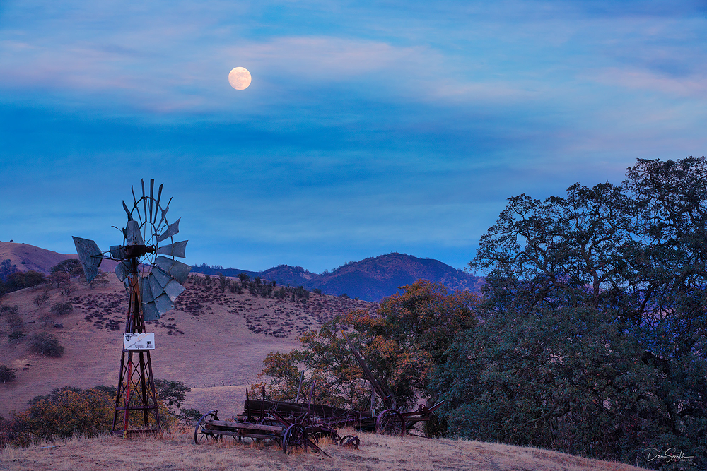 Moonrise Near Pinnacles National Park, California