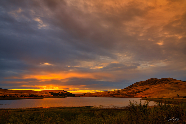 Sunset Over Paicines Reservior, California