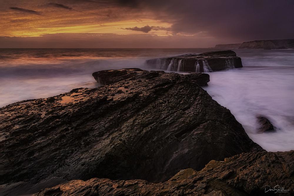 Sunset at Panther Beach, Santa Cruz, California