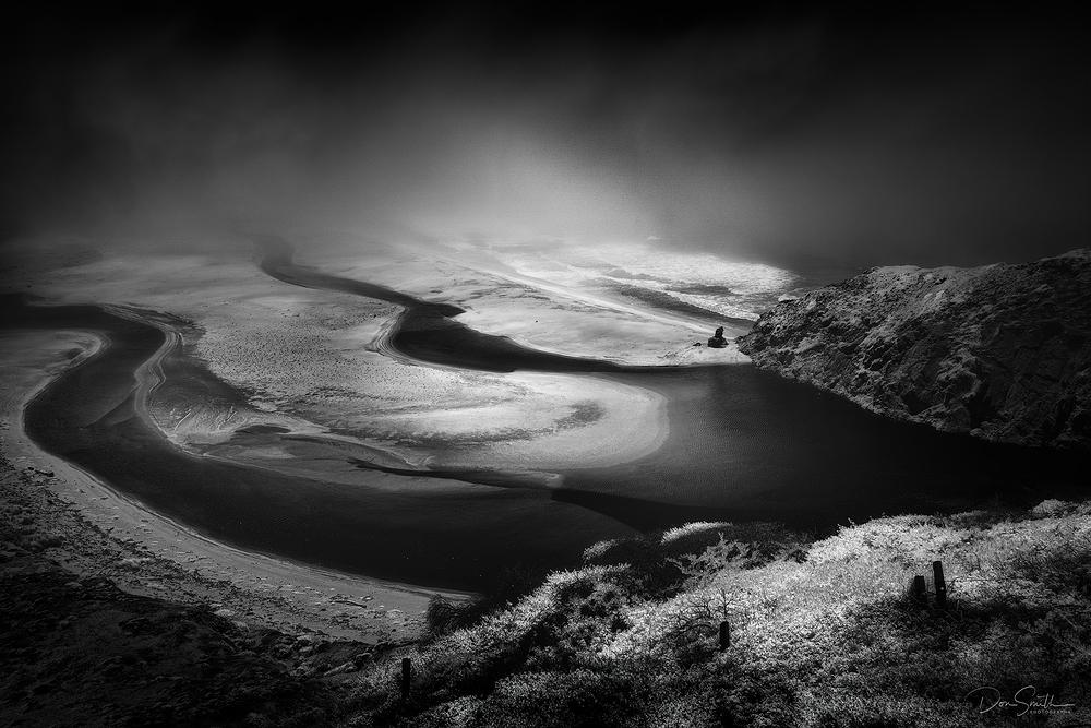 Little Sur River and Fog Bank, Big Sur Coast