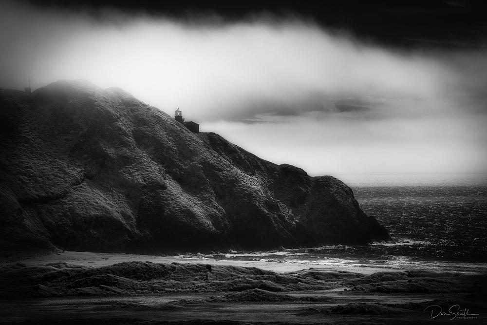 Pt. Sur Lightstation in IR - Big Sur Coast