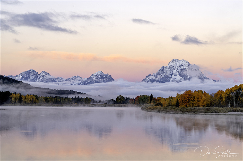Oxbow Bend at Dawn in Fall, Grand Teton NP