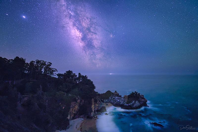 Milky Way Over McWay Fall, Big Sur Coast