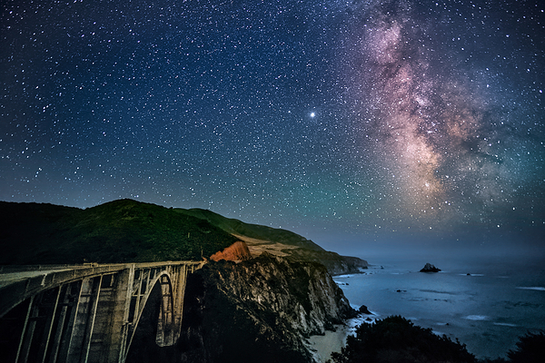 Bixby Bridge and Milky Way, Big Sur Coast