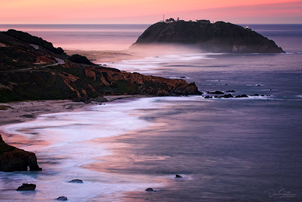 Dawn Sky Over Pt. Sur Lightstation, Big Sur Coast