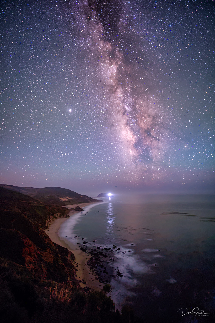 Milky Way Over Big Sur Coast