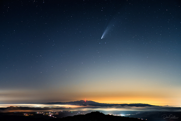 NEOWISE Comet Over Southern Bay Area, CA