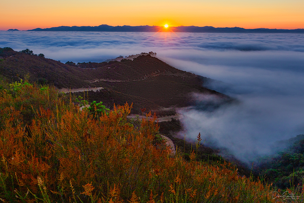 Sunrise Over Santa Clara Valley, California