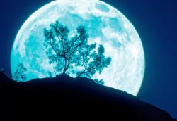 Full Moon Over Pinnacles NP High Peaks, California
