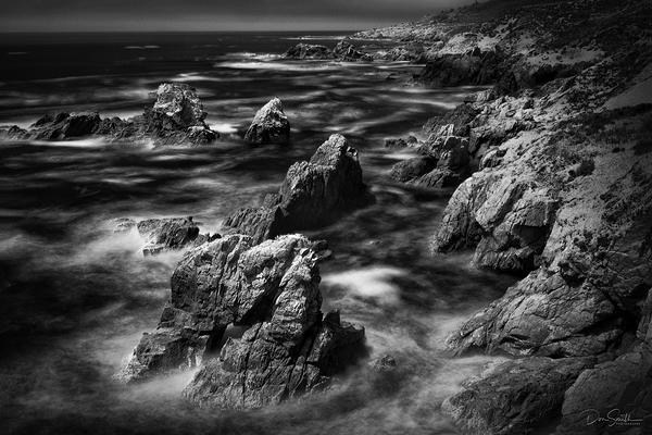 Big Sur Coast in Infrared, California